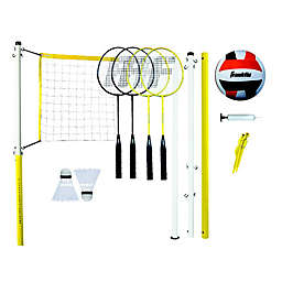 Franklin® Sports Family Badminton & Volleyball Set in Yellow/White