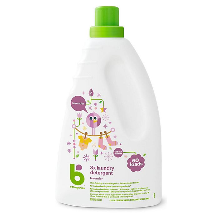 Alternate image 1 for Babyganics® 60 oz. Lavender 3x Laundry Detergent