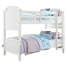 Dorel Living Shoreline Wooden Twin Over Twin Bunk Bed in Mocha