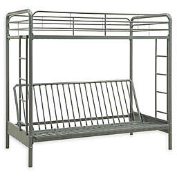 EveryRoom Twin Over Futon Metal Bunk Bed