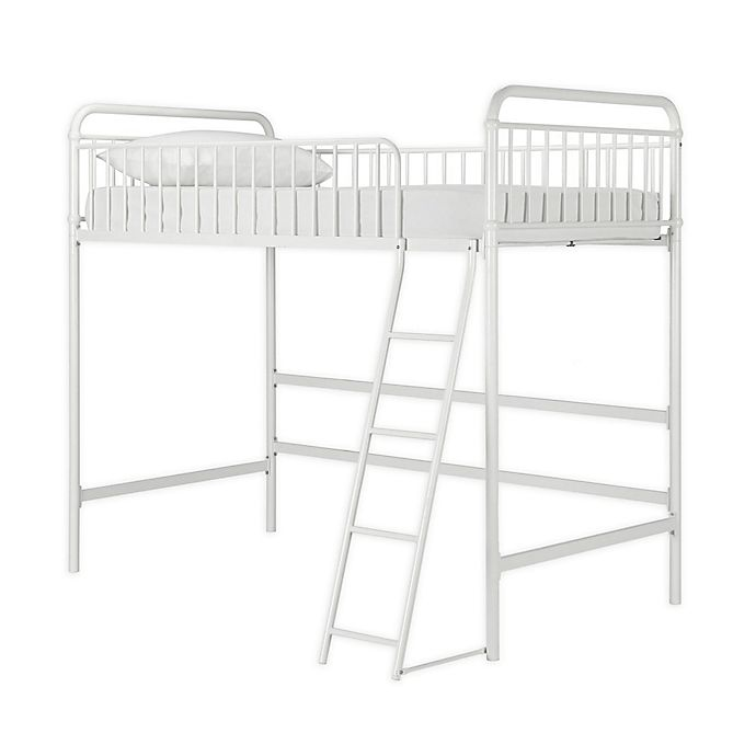 Alternate image 1 for Kalvin Twin Metal Loft Bed