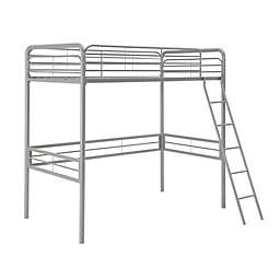 Atwater Living Tiana Twin Metal Loft Bed in Silver