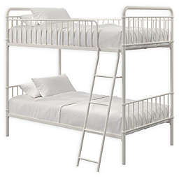 EveryRoom Kalvin Twin-over-Twin Bunk Bed in White