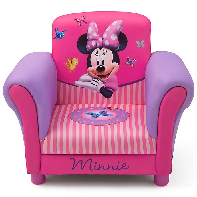 Cool Delta Children Minnie Mouse Kids Upholstered Chair Bed Pdpeps Interior Chair Design Pdpepsorg