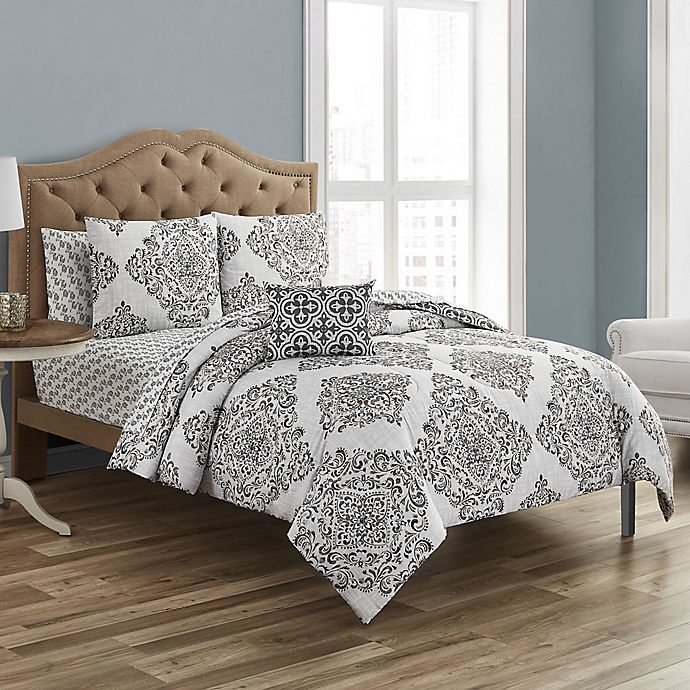 Alternate image 1 for Zaria 12-Piece Reversible Comforter Set