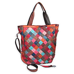 Amerileather Perlow Leather Tote Bag in Rainbow