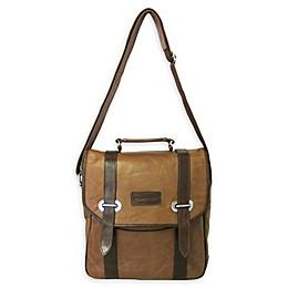 Amerileather Granger Messenger Bag in Two-Tone Brown