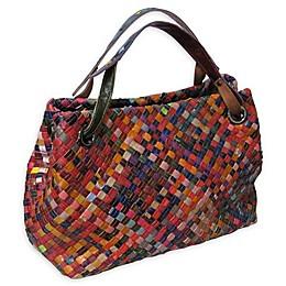 Amerileather Cybil Woven Handbag in Rainbow