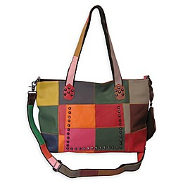 Amerileather Cleo Tote Bag in Rainbow
