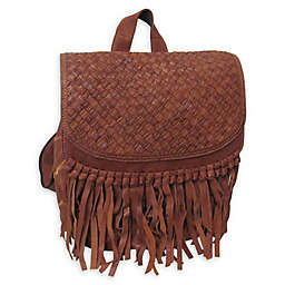 Amerileather Briella Leather Backpack in Brown