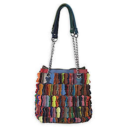 Amerileather Papillon Leather Shoulder Bag in Rainbow