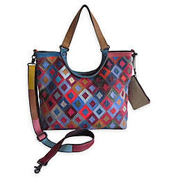 Amerileather Minter Leather Tote Bag in Rainbow