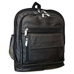 Amerileather Traditional Leather Backpack in Black