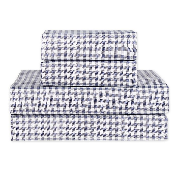 Alternate image 1 for Hidden Retreat Lake & Lodge Gingham Check Sheet Set