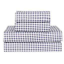 Hidden Retreat Lake & Lodge Gingham Check Sheet Set