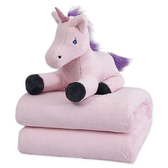 Alternate image 1 for Therapedic® 6 lb. Kids Weighted Blanket with Unicorn Plush Toy in Pink