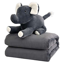 Therapedic® 6 lb. Kids Weighted Blanket with Elephant Plush Toy in Grey