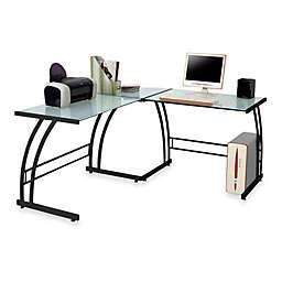LumiSource® Gamma Corner Computer Workstation in Black