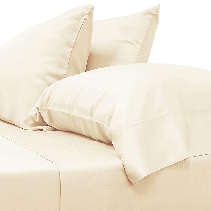 Alternate image 1 for Cariloha® Classic 230-Thread-Count Viscose Made From Bamboo Twin XL Sheet Set in Ivory