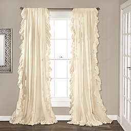 Reyna 2-Pack  95-Inch Rod Pocket Window Curtain in Ivory