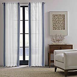ED Ellen DeGeneres™ 84-Inch Woven Stripe Rod Pocket Window Curtain Panel Pair