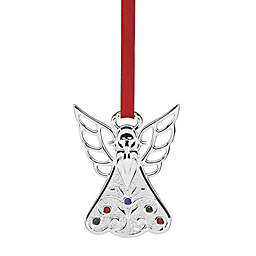 Lenox® Jeweled Angel Charm Ornament in Silver