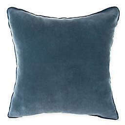 O&O by Olivia & Oliver™ Velvet Square Throw Pillow in Turquoise/Flax