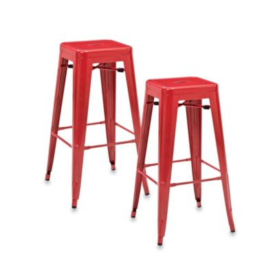 Enjoyable Crosley Amelia Cafe 30 Inch Backless Bar Stools Set Of 2 Creativecarmelina Interior Chair Design Creativecarmelinacom