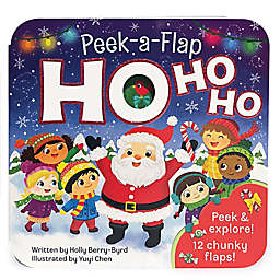 """Peek-a-Flap Ho Ho Ho"" Board Book"