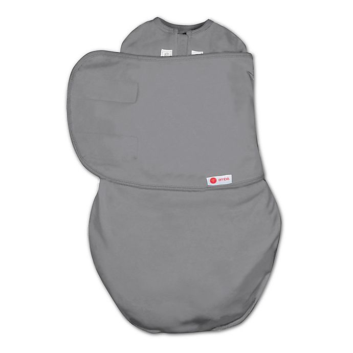 Alternate image 1 for embe® Starter 2-Way Swaddle™ in Slate Grey