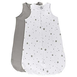 Ely's & Co. 2-Pack Stars Wearable Blanket in Grey