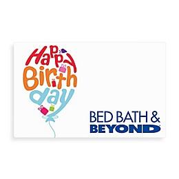 """Happy Birthday"" Balloon Gift Card"