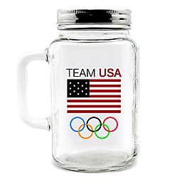 Olympics Team USA Mason Jar with Lid