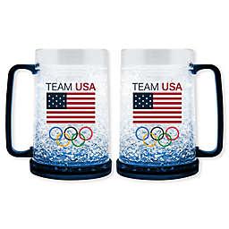 Olympics Team USA 16 oz. Crystal Freezer Beer Mug
