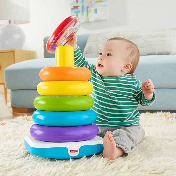Alternate image 1 for Fisher-Price® 7-Piece Giant Rock-A-Stack®