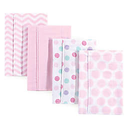 Luvable Friends® 4-Pack Flannel Burp Cloths in Pink