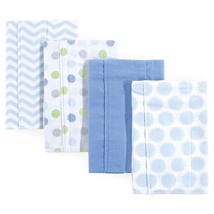 Alternate image 1 for Luvable Friends® 4-Pack Flannel Burp Cloths
