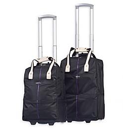 Club Rochelier 2-Piece Trolley Duffle Bags Set in Black