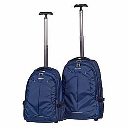 Club Rochelier 2-Piece Wheeled Backpack Set