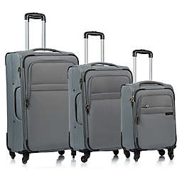 CHAMPS Brooklyn 3-Piece Softside Spinner Luggage Set