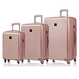 CHAMPS Iconic 3-Piece Hardside Expandable Spinner Luggage Set