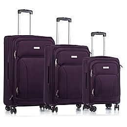 CHAMPS Travelers 3-Piece Softside Spinner Luggage Set