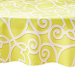 Elrene Chase 70-Inch Round Indoor/Outdoor Tablecloth