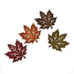 Felt Leaf Coasters (Set of 4)