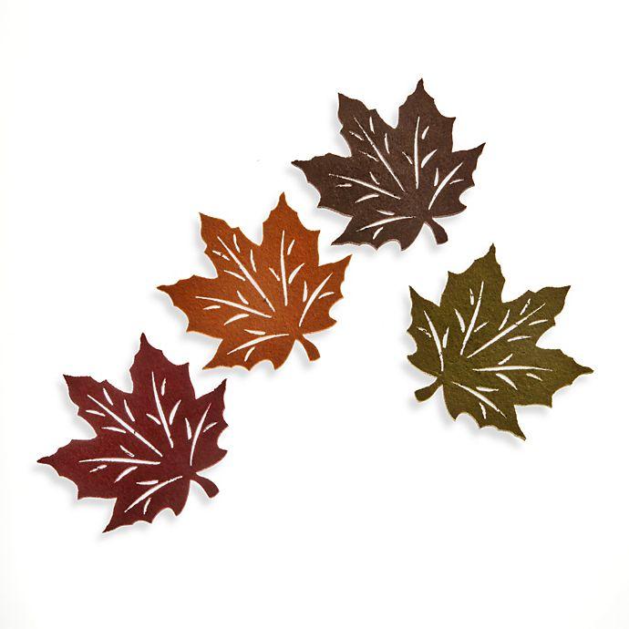 Alternate image 1 for Felt Leaf Coasters (Set of 4)