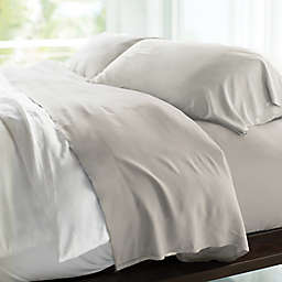 Cariloha® Resort 400-Thread-Count Viscose Made From Bamboo Queen Sheet Set in Silver
