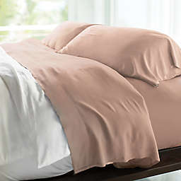 Cariloha® Resort 400-Thread-Count Viscose Made From Bamboo Queen Sheet Set in Blush