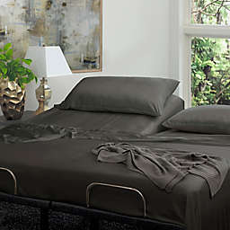 Cariloha® Resort 400-Thread-Count Viscose Made From Bamboo Split King Sheet Set in Grey