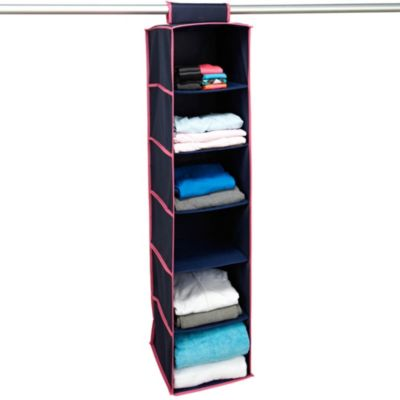 the macbeth collection 6 shelf hanging closet organizer in 85763