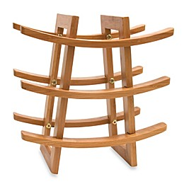 Lipper International 9-Bottle Bamboo Wine Rack
